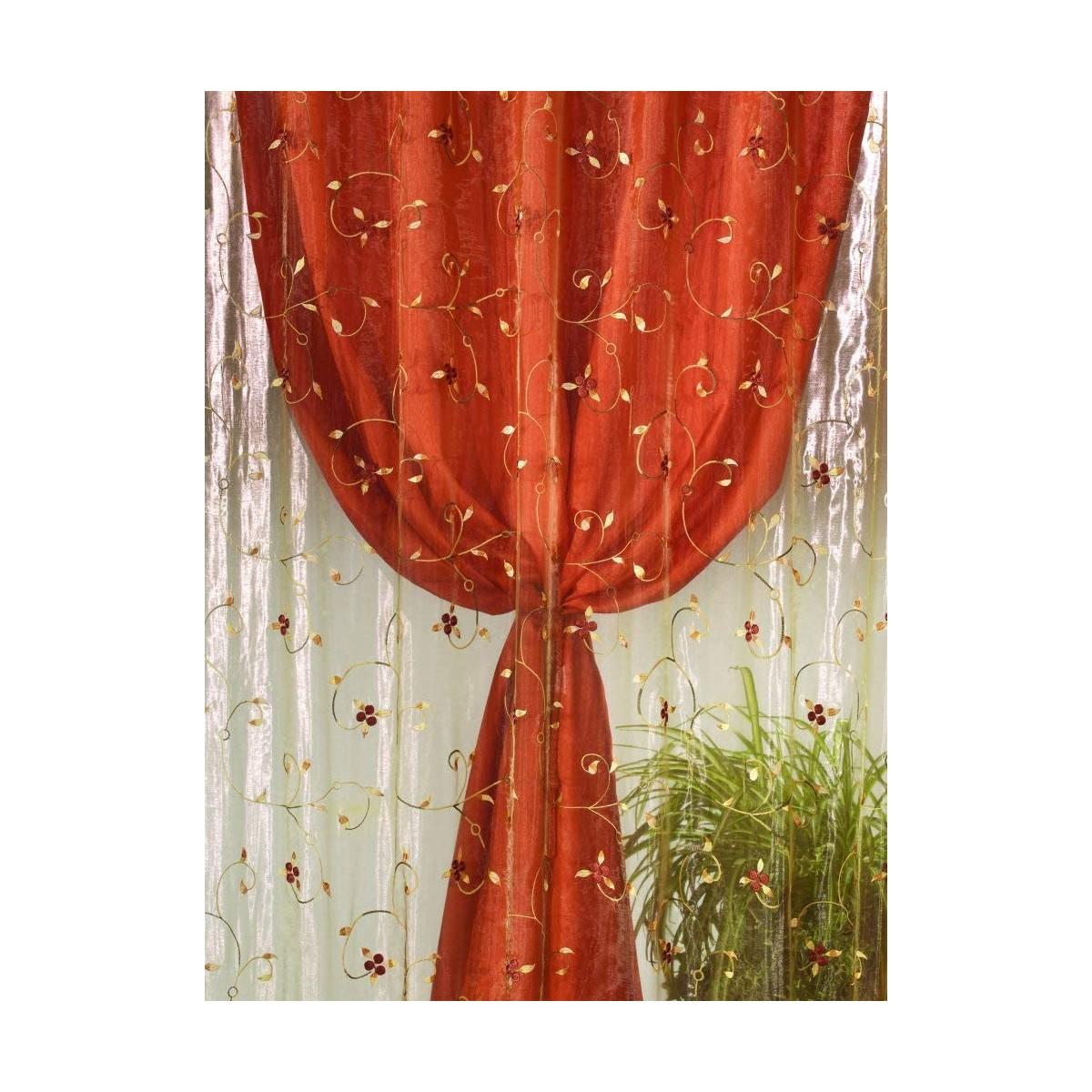 Tenda Natalizia arancione con bretelle, arredo casa
