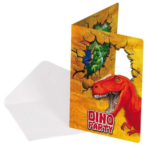 12 Inviti compleanno dinosauri