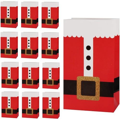 Set da 20 Scatole Regalo Natale, Design Tuta Babbo Natale