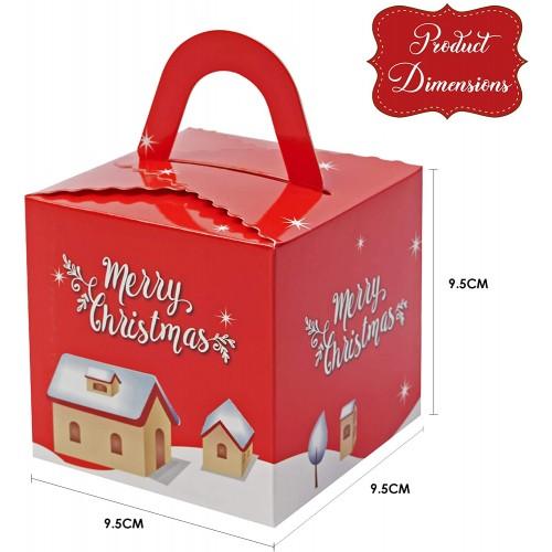 Set 30 Scatole regalo Natalizie con manici, grafiche assortite
