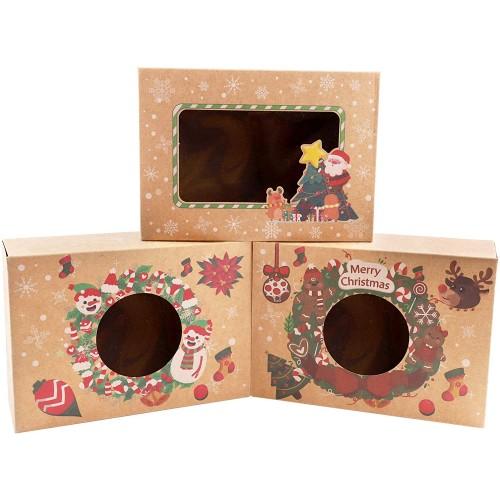 Set da 12 confezioni regalo Natalizie, per dolci, caramelle e pensierini