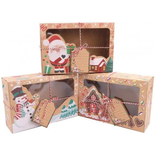Set da 12 scatole per reali di Natale, in cartoncino