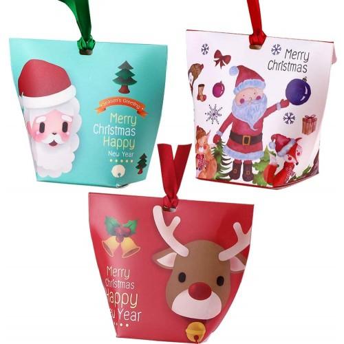 Set da 12 scatole di Regali di Natale, con una varietà di elementi natalizi