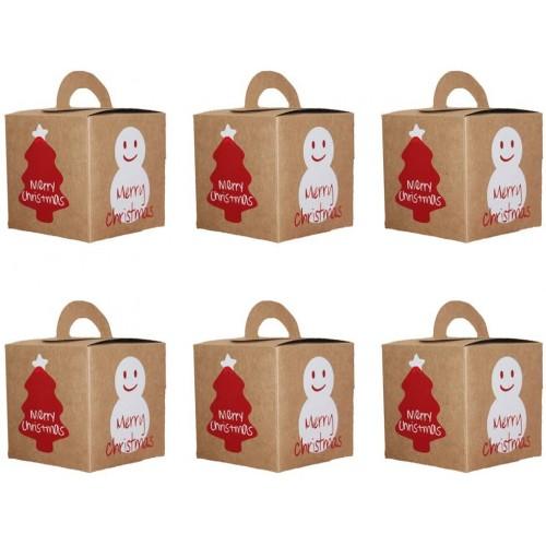 Set da 20 scatole per dolci carta kraft Natalizi, perfette per i regali