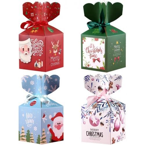Set da 24 scatole Natalizie per regali originali, 4 stili diversi