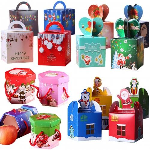 Set da 40 scatoline in cartoncino Natalizie per i tuoi regali