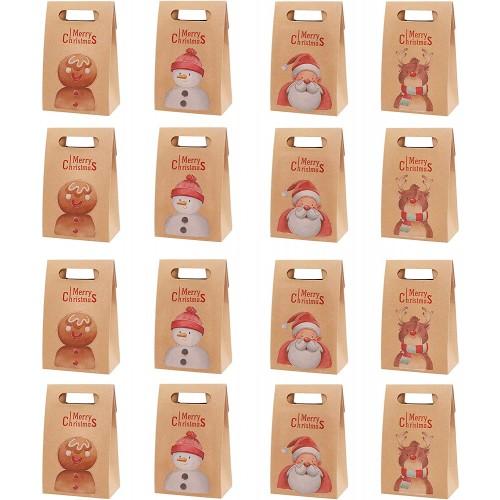 Set da 16  Confezione Regalo Natale, 4 motivi diversi, per regali originali