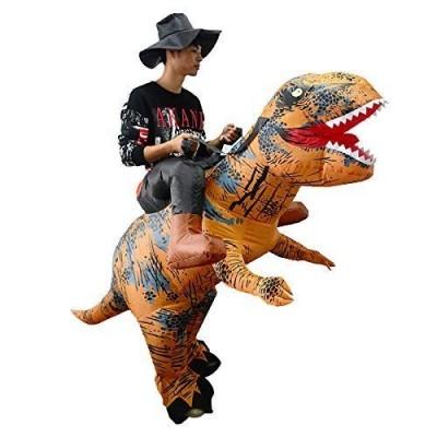 Costume cavaliere su dinosauro