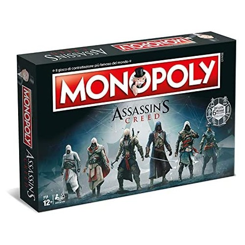Monopoly di Assassins Creed, gioco di società, idea regalo