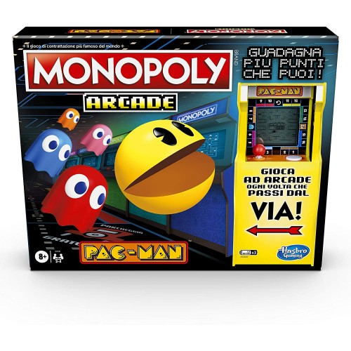 Monopoly Arcade Pac-Man - Hasbro Gaming, gioco da tavolo