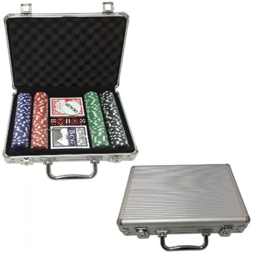 Set Poker con Valigetta in alluminio e 200 chip, idea regalo
