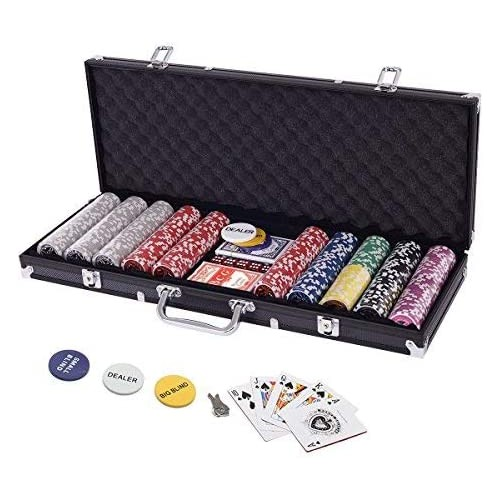 Super Set da Poker con 500 Chips Laser e valigetta in alluminio