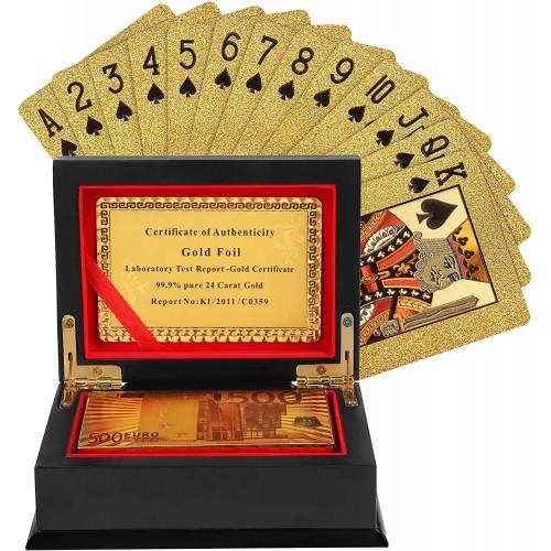 Carte da Poker impermeabili, scintillanti, con fodera
