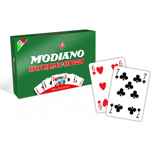 Set 2 mazzi di carte Modiano- Burraco, perfette per giochi di carte