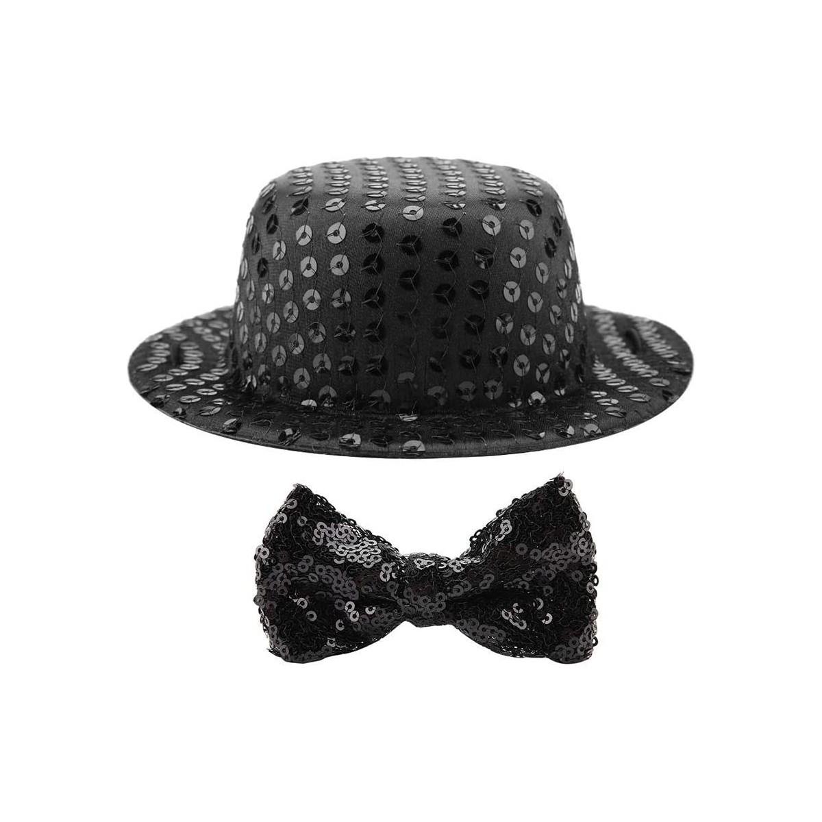 Set cappello e Papillon nero per cani e gatti, abbigliamento animali