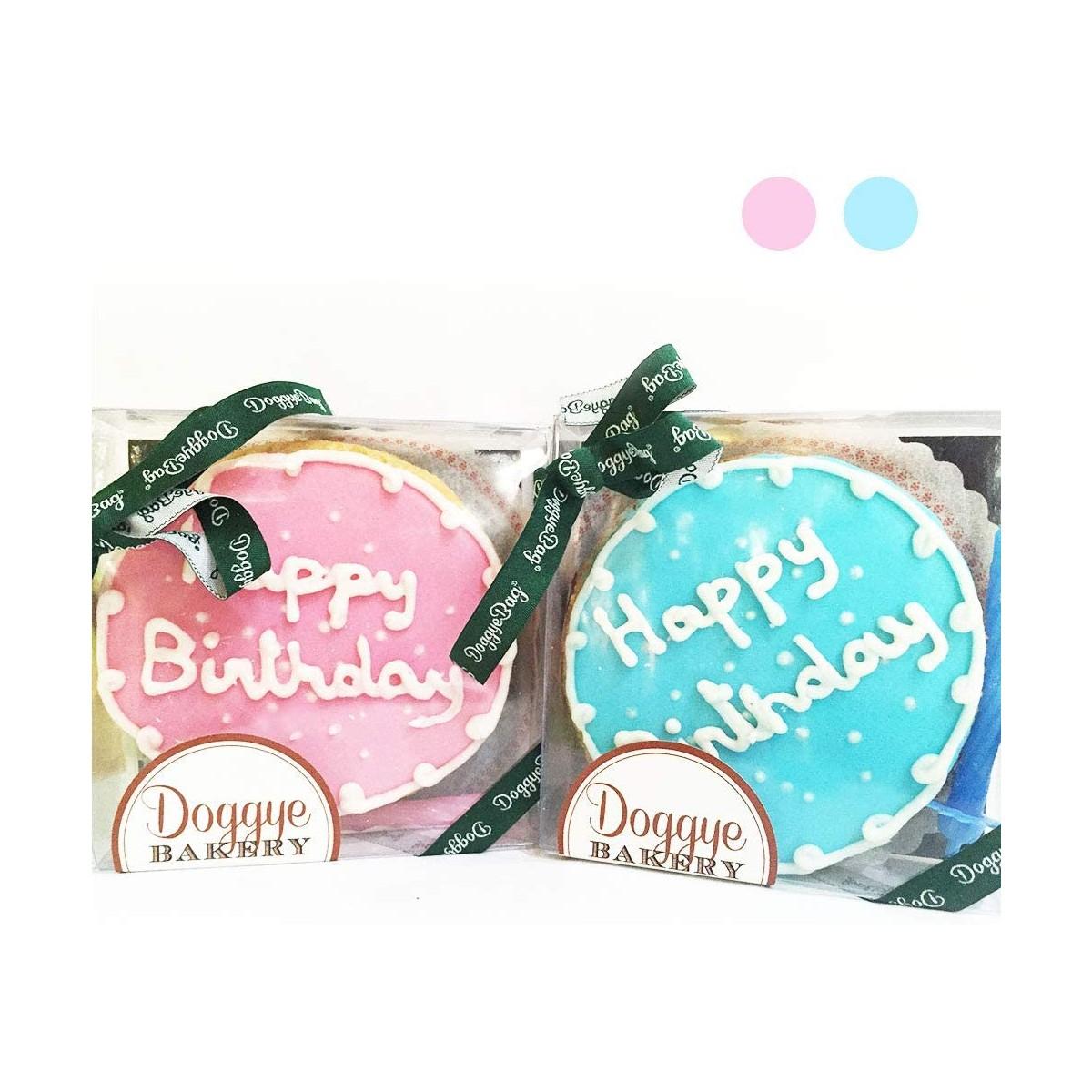 Torta di compleanno per cani, senza zucchero e additivi, con candelina