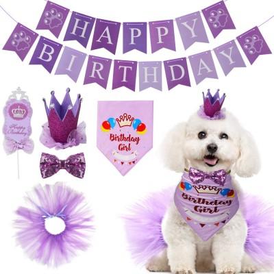 Set compleanno rosa per cagnolina, con vestiti e addobbi