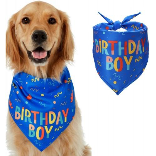 Bandana per cane blu per compleanno, abbigliamento