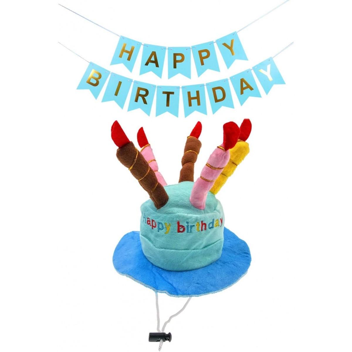 Cappellino a forma di torta di compleanno per cane o gatto