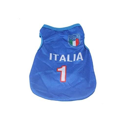 Maglia per cani Nazionale Italiana Calcio, ufficiale, con numero 1
