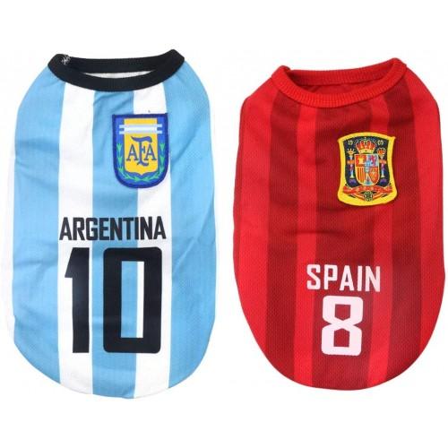 Maglietta nazionale di calcio per cani, tutte le Nazionali disponibili