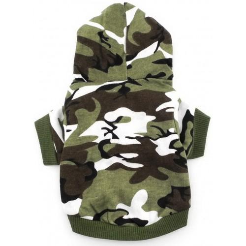 Camicia per cane con cappuccio, stile militare, adorabile