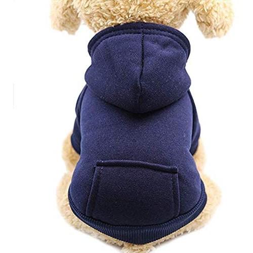 Felpa con cappuccio per cani, autunnale, in cotone, con tasca