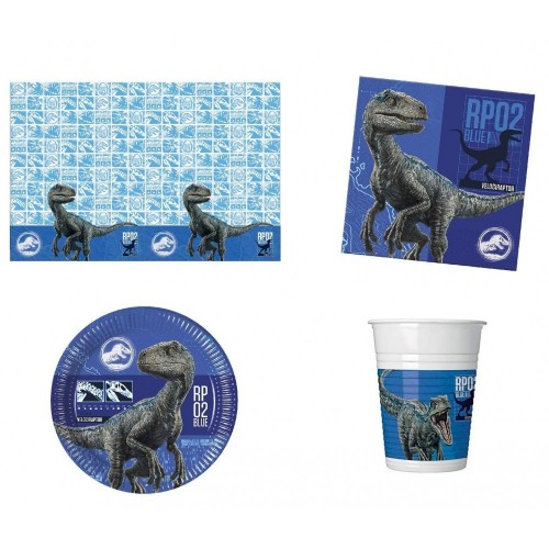 Budget Gifts Pacchetto Jurassic World Party per 8 Ospiti