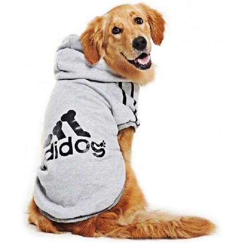 Felpa con cappuccio per cani di taglia grande, alla moda, ADIDOG