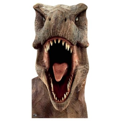 Star Cutouts SC1279ufficiale Jurassic World Tyrannosaurus  dinosauro T-Rex  a grandezza naturale, altezza: 188cm, multicolo