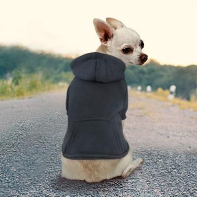 Felpa con cappuccio per animali domestici in cotone, con tascone