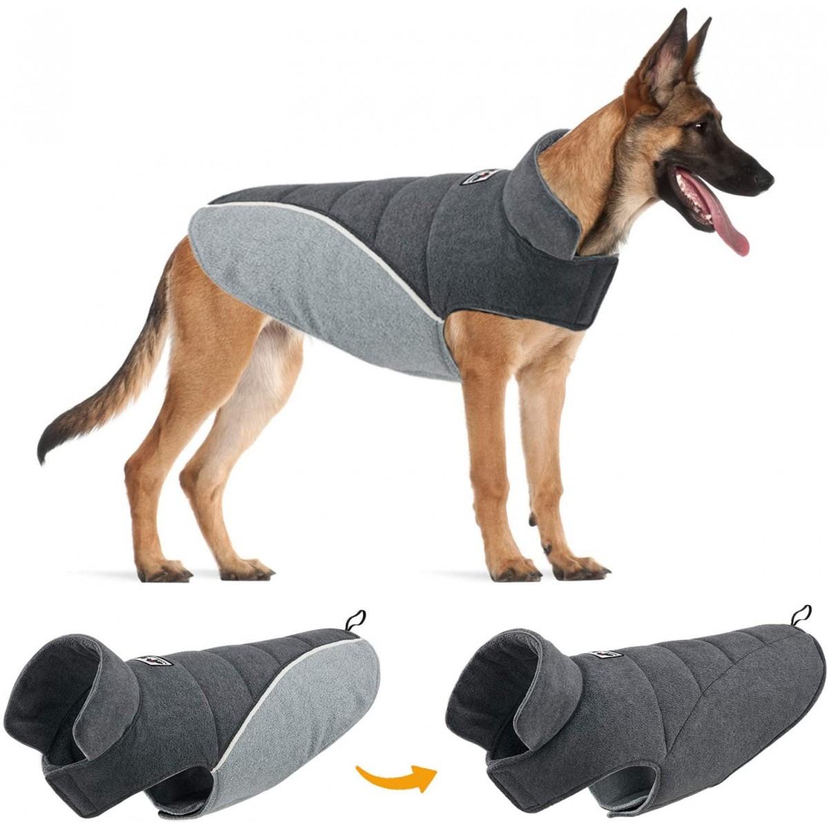 Cappotto reversibile per cani, riflettente, alla moda, invernale
