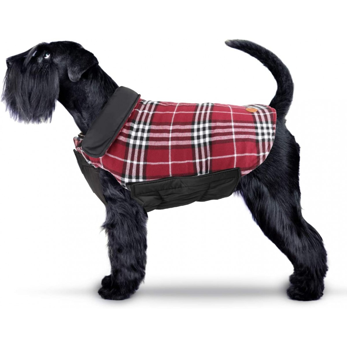 Cappotto Scozzese reversibile per cani, in plaid e cotone