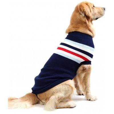 Maglioncino a righe per cani, lavorato a maglia, alla moda