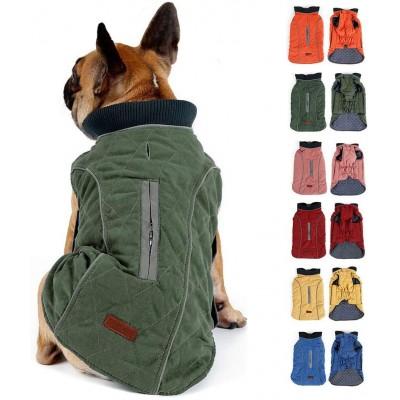 Giacca per cani con strisce riflettenti e imbracatura, vari colori e taglie
