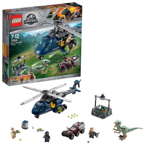 LEGO Jurassic World - Inseguimento sullelicottero di blue, 75928