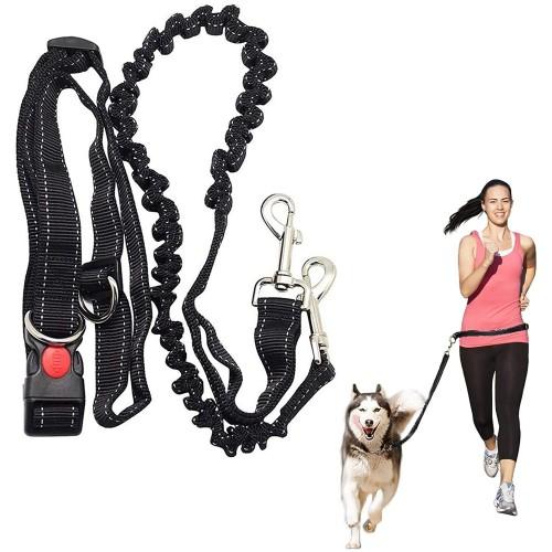 Guinzaglio per cani con cintura in vita regolabile, per il jogging