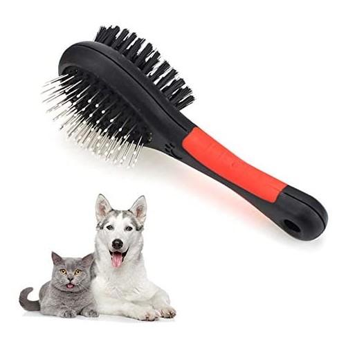 Spazzola per cani doppia, per cura del pelo