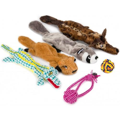 Set di 6 giocattoli per cani, peluche da mordere, morbidi e teneri