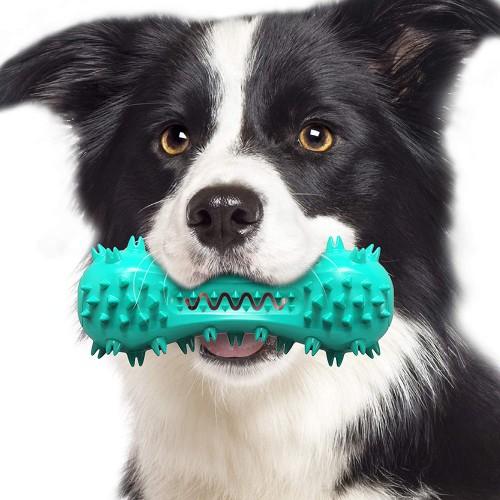 Spazzolino giocattolo con Squeak per cani, morbido per i suoi denti