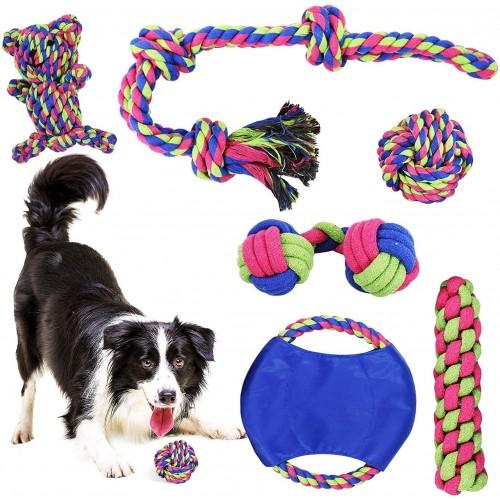 Set giocattoli per Cani, interattivi, da mordere, 5 pezzi