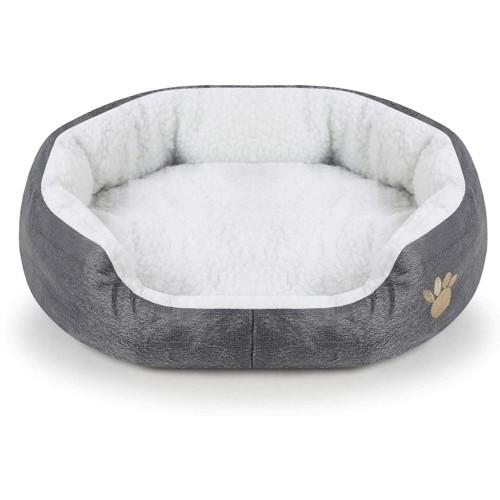 Cuccia rotonda in pile per cani piccoli, lettino da interno