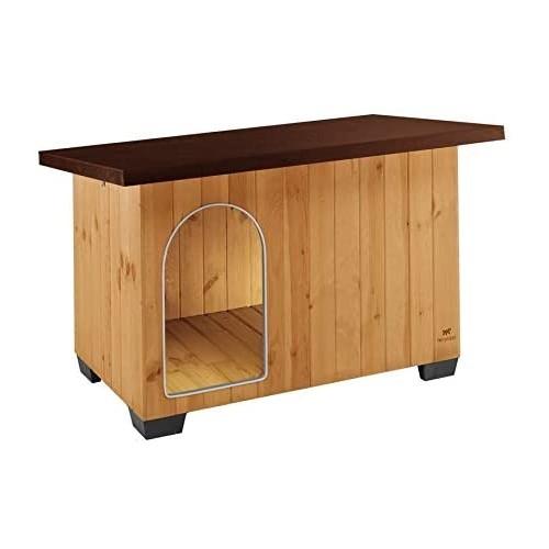 Cuccia per cani, casetta in legno con porta antimorso