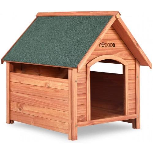 Cuccia per cane XXL in legno, per taglia grande, tetto apribile