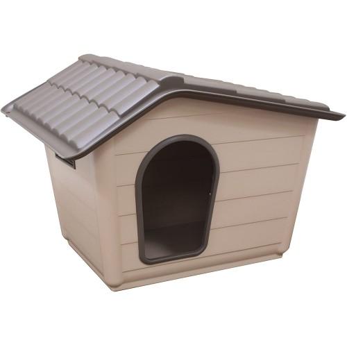 Cuccia per cani, Beige/Marrone in PVC, plastica resistente