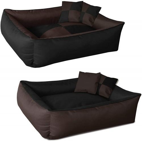 Letto materassino per cani marrone e nero, stile moderno
