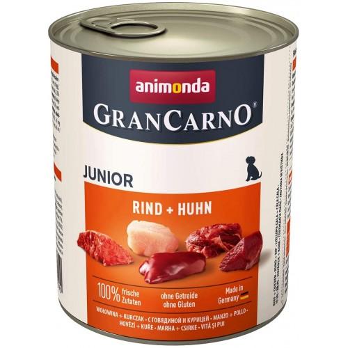 Cibo per cani umido con manzo e pollo - GranCarno, 6 conf. da 100 gr