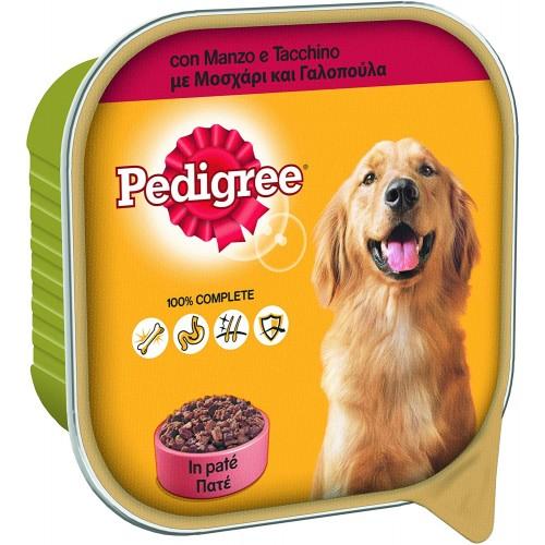 Cibo per cani con manzo e tacchino in patè - Pedigree, 20 vaschette da 300gr