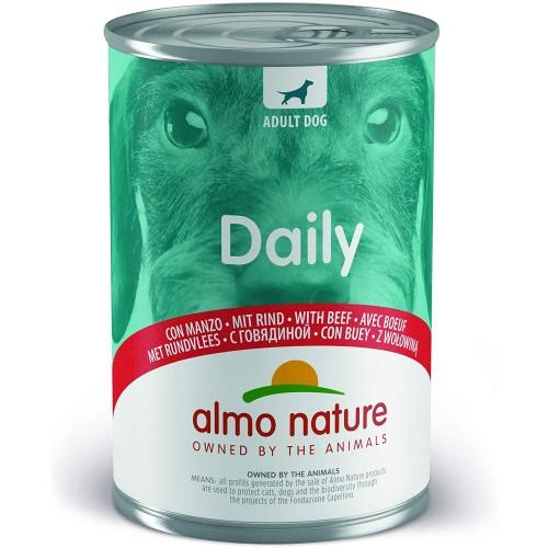 Set da 24 confezioni da 400gr di manzo per cani - Almo Nature