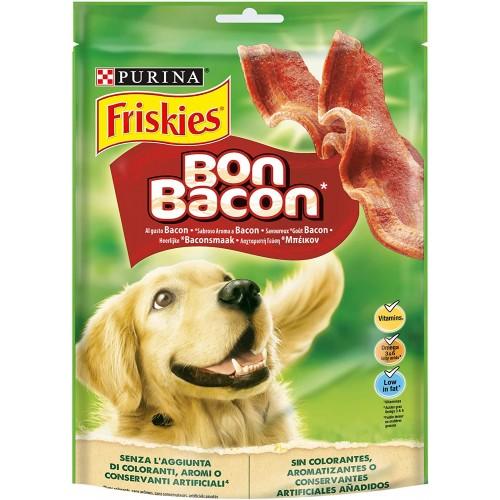 Set da 6 confezioni di Friskies snack al bacon per cani